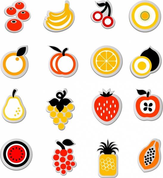 fruit icon sticker