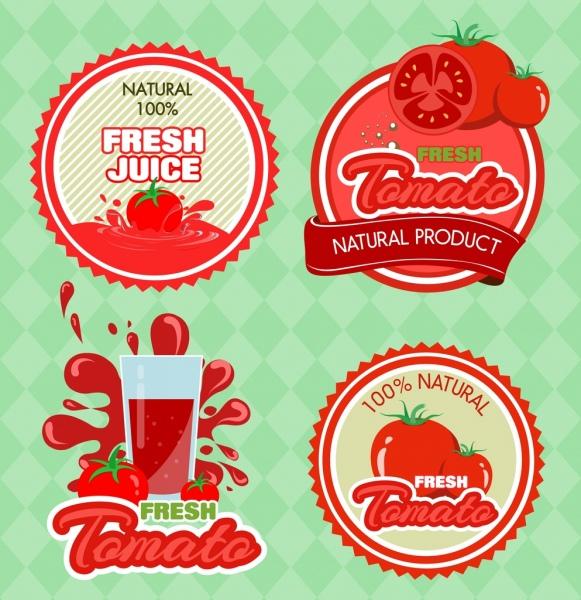 fruit logo design red tomato icon various shapes