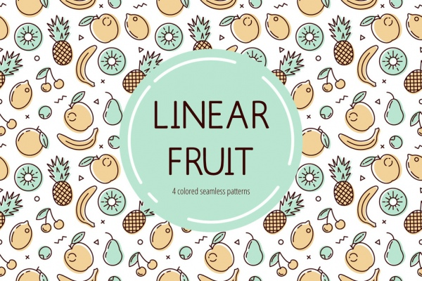 Fruit pattern vector Free vector in Adobe Illustrator ai
