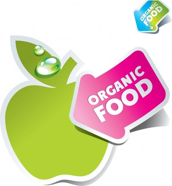 organic label template modern colorful paper cut design