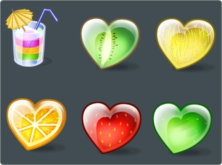 Fruity Hearts Icons icons pack