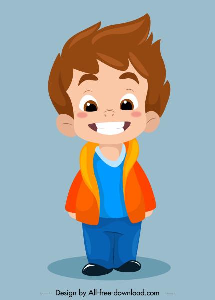 funny boy icon cartoon character sketch