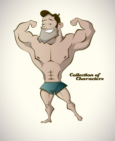funny cartoon people elements vector graphics