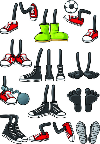 funny cartoon shoes vector graphics free vector in encapsulated