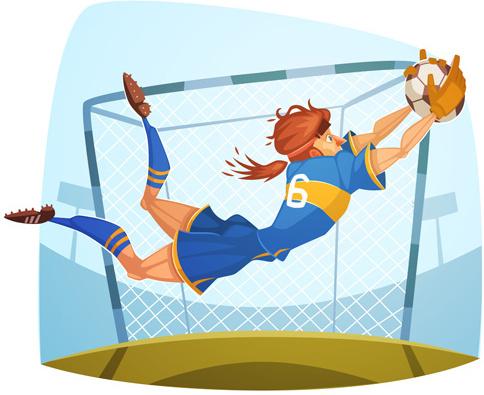 funny cartoon sporting design vector