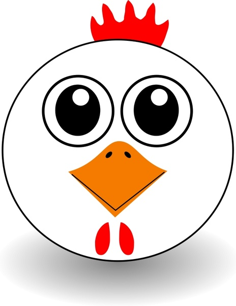 Funny Chicken Face Cartoon Free Vector In Open Office