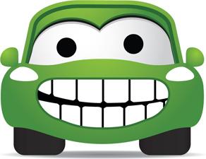 funny color cartoon cars vector