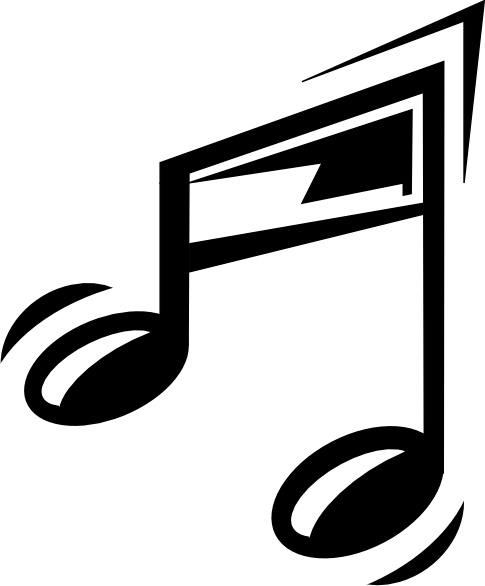 Funny Music Note clip art