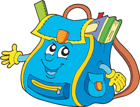 funny school bag design elements vector