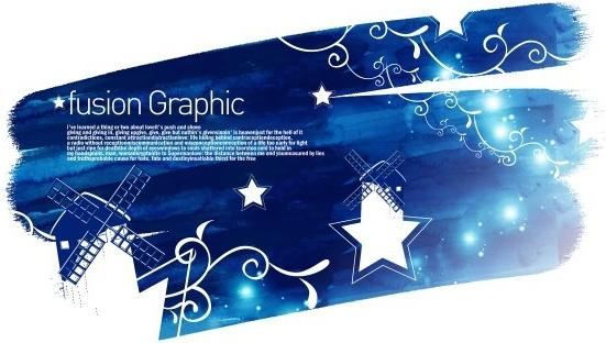 fusion graphic series fashion pattern 13