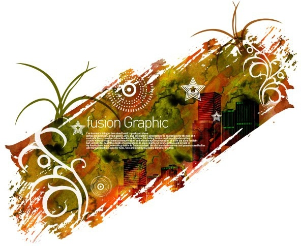 fusion graphic series fashion pattern 17