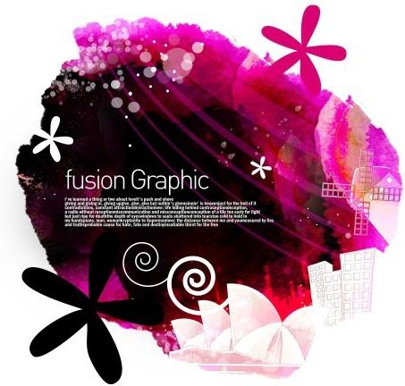 fusion graphic series fashion pattern 22
