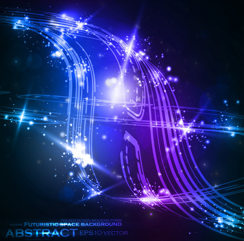 Futuristic Space Abstract Background Vector