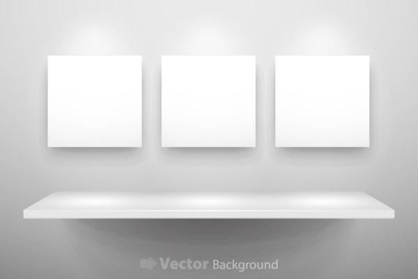 gallery display background 11 vector