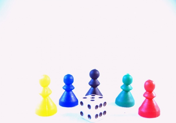 game set with dice