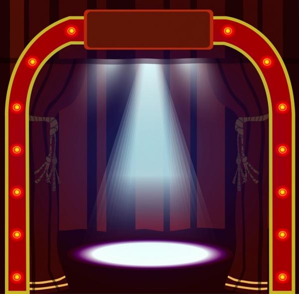 game show stage design bright neon gate decoration