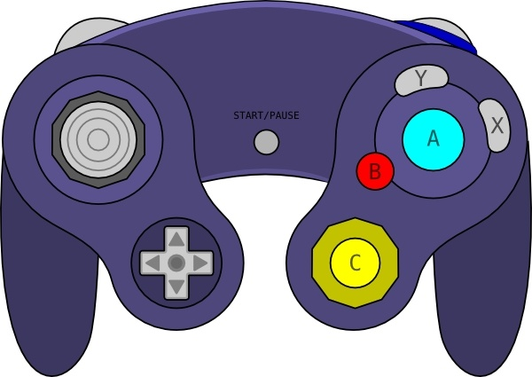 gamecube gamepad clip art free vector in open office drawing svg