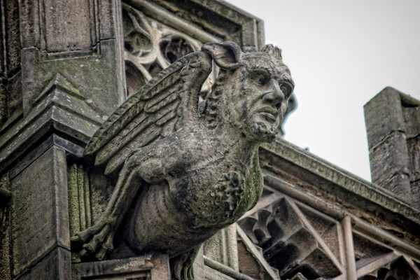 gargoyle cathedral manchester