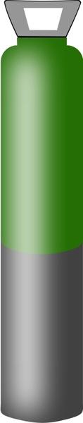 Gas cylinder grey and dark green, high pressure for Argon