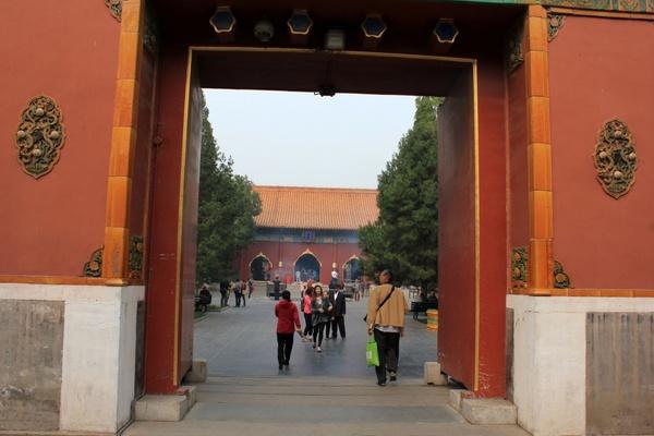gateway at lama temple in beijing china