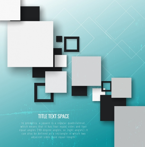 geometric background black white squares decoration