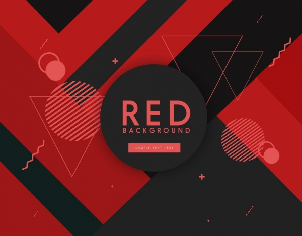 geometric background red black design