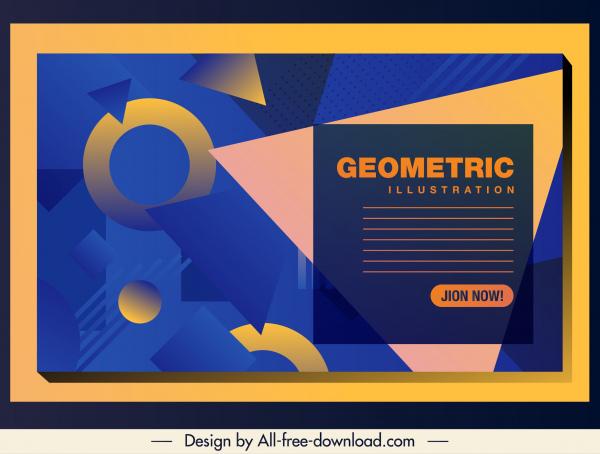 geometric background template modern colorful flat decor