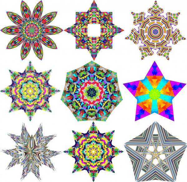 Geometric Icons Vector Illustration With Kaleidoscope Pattern Free Adorable Kaleidoscope Patterns