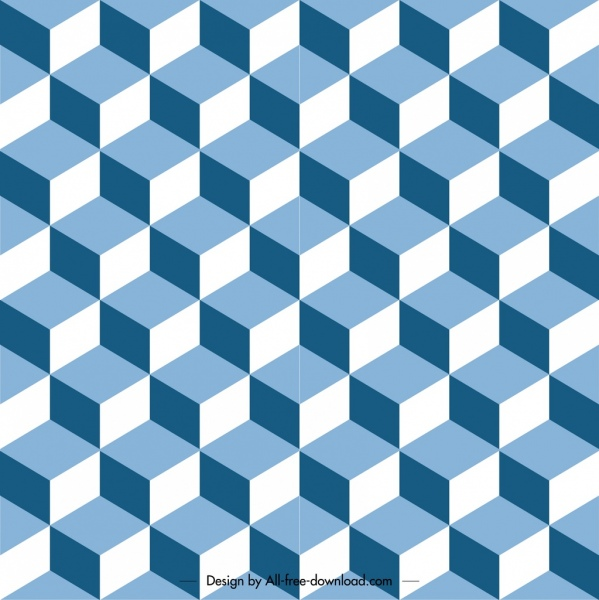 Geometric pattern template delusion symmetrical design Free vector
