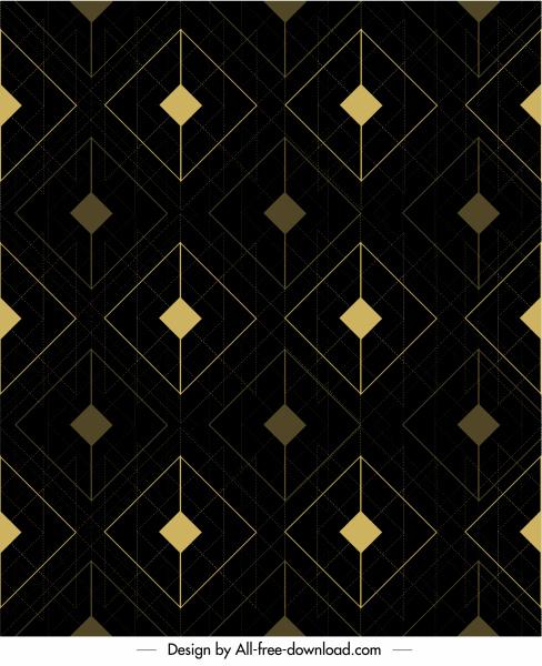 geometric pattern template elegant dark flat repeating symmetry