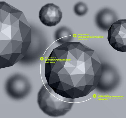 geometric polygonal objects vector background