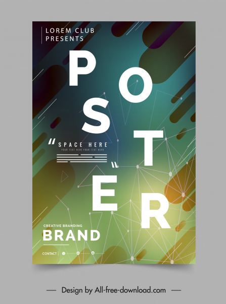 Geometric Poster Template Colorful Modern Dynamic Design Free Vector In Adobe Illustrator Ai Ai Format Encapsulated Postscript Eps Eps Format Format For Free Download 4 94mb
