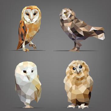Geometric Shapes Wild Animals Vector Graphics