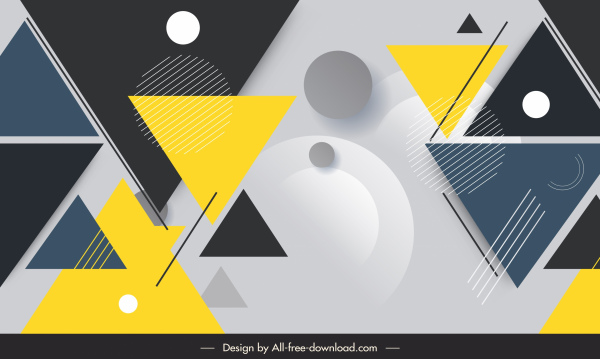 geometry background modern colorful circles triangles decor