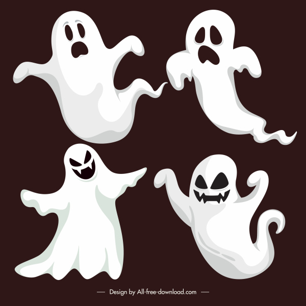 ghost icons classic scary gestures sketch