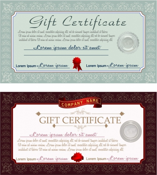 Gift Certificate Free Vector In Adobe Illustrator Ai