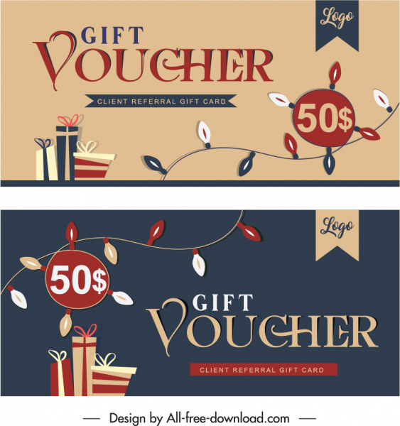 gift voucher templates classical handdrawn dynamic