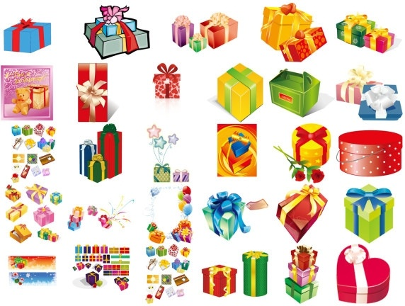 gifts gift box set of vector free vector in adobe illustrator ai