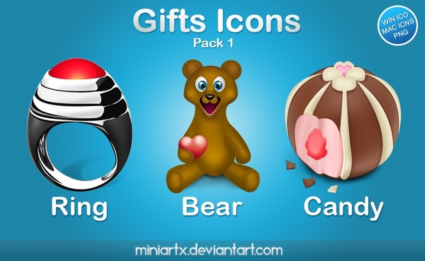 Gifts icons pack 1 icons pack