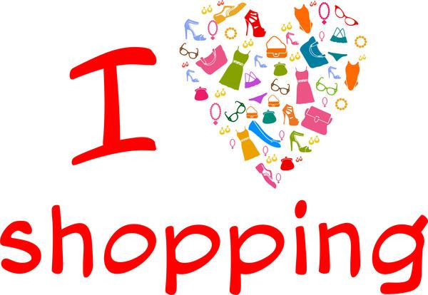 girl love shopping items