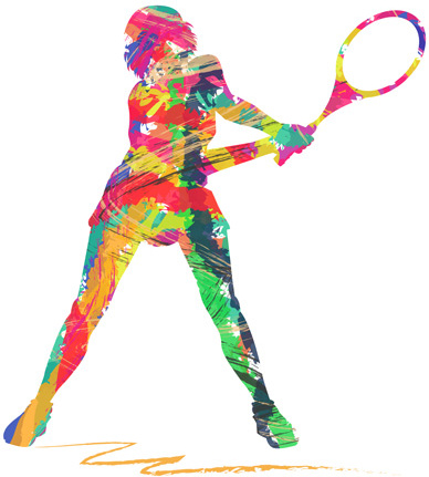 girls sport with paint vector free vector in encapsulated postscript