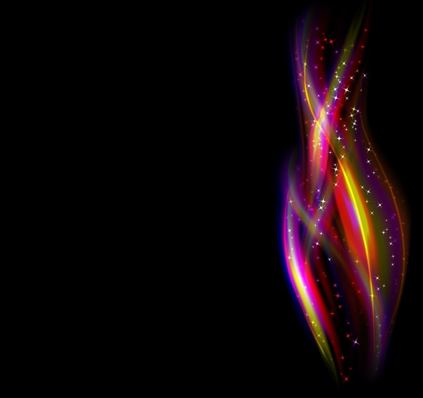 decorative background sparkling fire icons colorful motion design