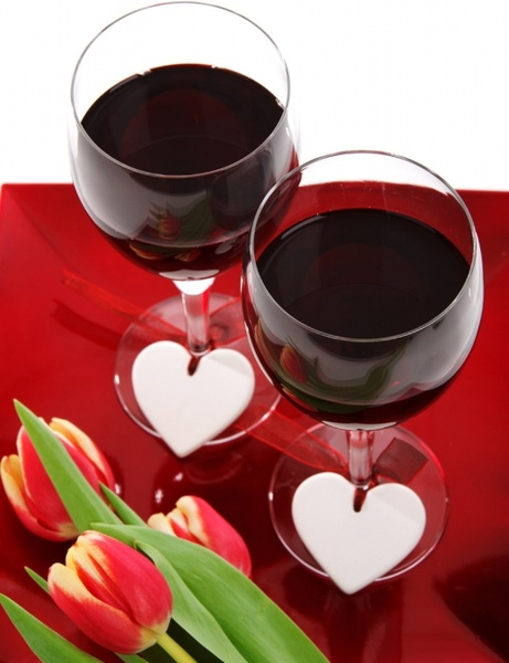 glass of wine for two