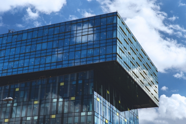 Disappearing Glass Office Buildings In The Morning Wide: Glass Office Building Free Stock Photos In Jpg Format For