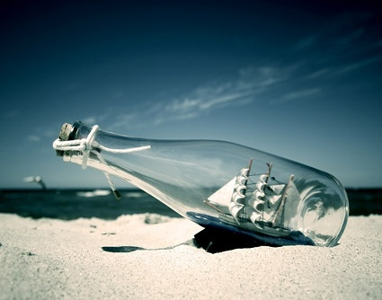 glass on the beach picture 1