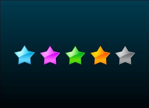 colorful stars vector illustration on dark background