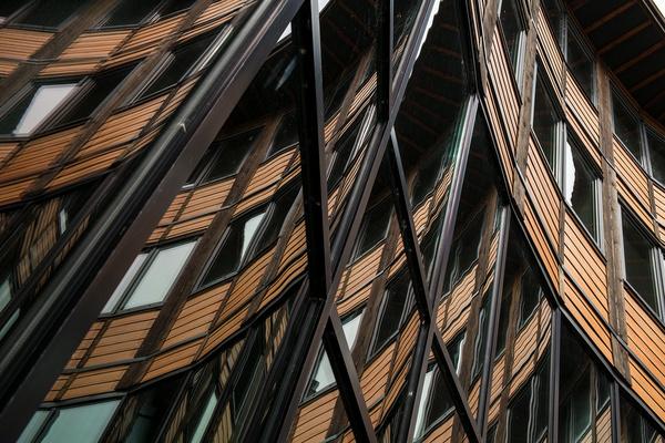 glass steel wood