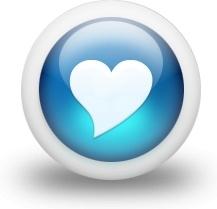 Glossy 3d blue heart