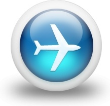Glossy 3d blue plane
