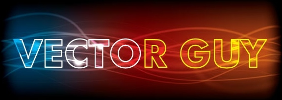 Glowing abstract text effect Free vector in Adobe